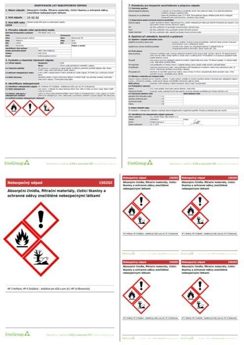 Identifikační listy a označení nebezpečných odpadů